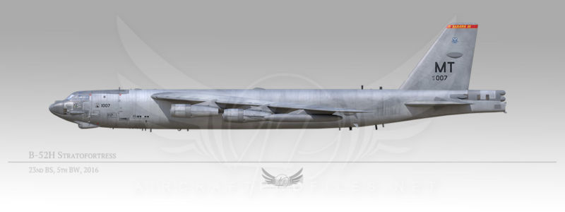 """B-52H Stratofortress """"Ghost Rider"""", 5th Bomb Wing, 23rd Bomb Squadron, 2016"""