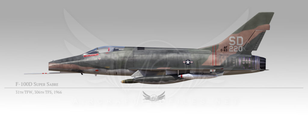 F-100D Super Sabre, 31st Tactical Fighter Wing, 306th Tactical Fighter Squadron, 1966