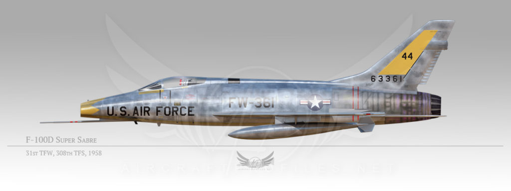 F-100D Super Sabre, 31st Tactical Fighter Wing, 308th Tactical Fighter Squadron, 1958