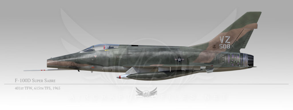 F-100D Super Sabre, 401st Tactical Fighter Wing, 615th Tactical Fighter Squadron, 1965