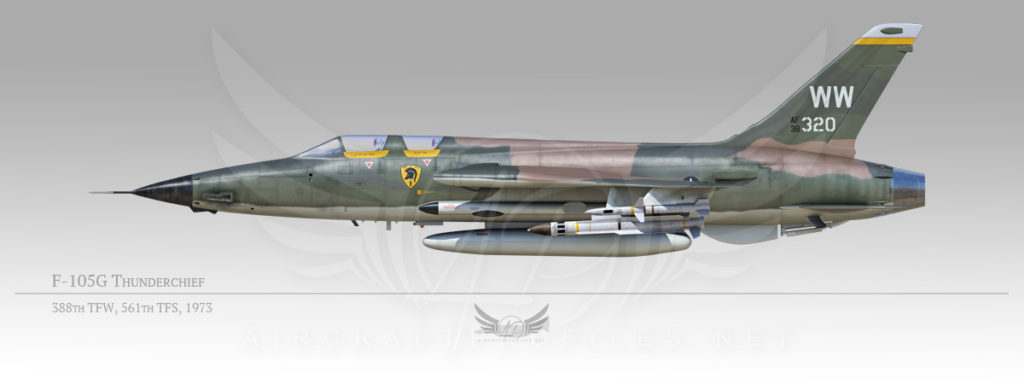 F-105G Thunderchief, 388th Tactical Fighter Wing, 561st Tactical Fighter Squadron, 1973