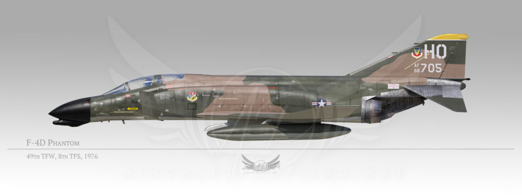 F-4D Phantom, 49th Tactical Fighter Wing, 8th Tactical Fighter Squadron, 1976