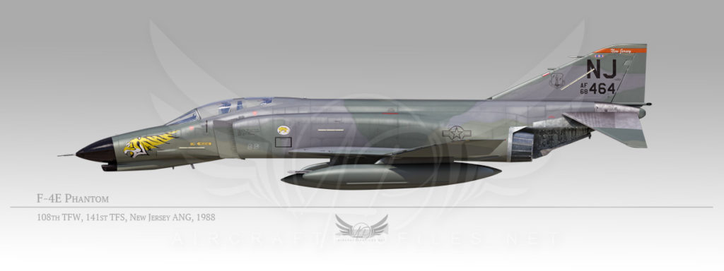 F-4E Phantom, 108th Tactical Fighter Wing, 141st tactical Fighter Squadron, 1988