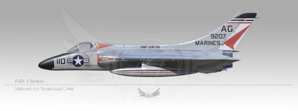 """F4D-1 Skyray, VMF(AW)-115 """"Silver Eagels"""", 1960"""
