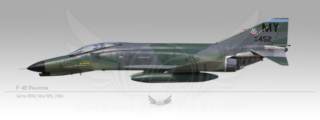 F-4E Phantom, 347th Tactical Fighter Wing, 70th Tactical Fighter Squadron, 1982