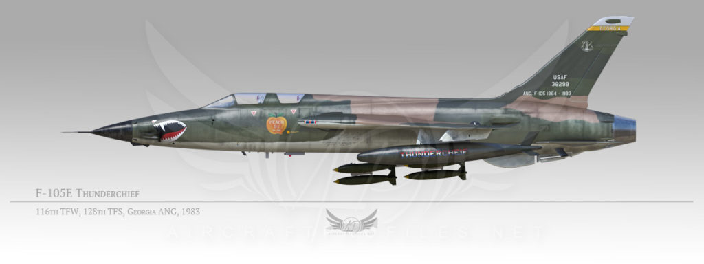 F-105F Thunderchief, 116th Tactical Fighter Wing, 128th Tactical Fighter Squadron, 1983
